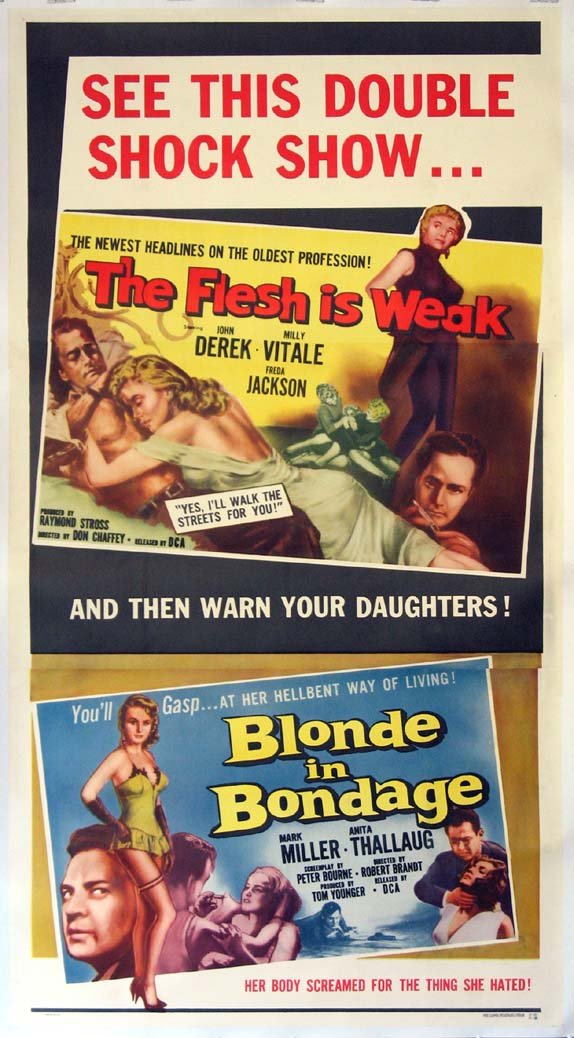 FLESH IS WEAK / BLONDE IN BONDAGE @ FilmPosters.com
