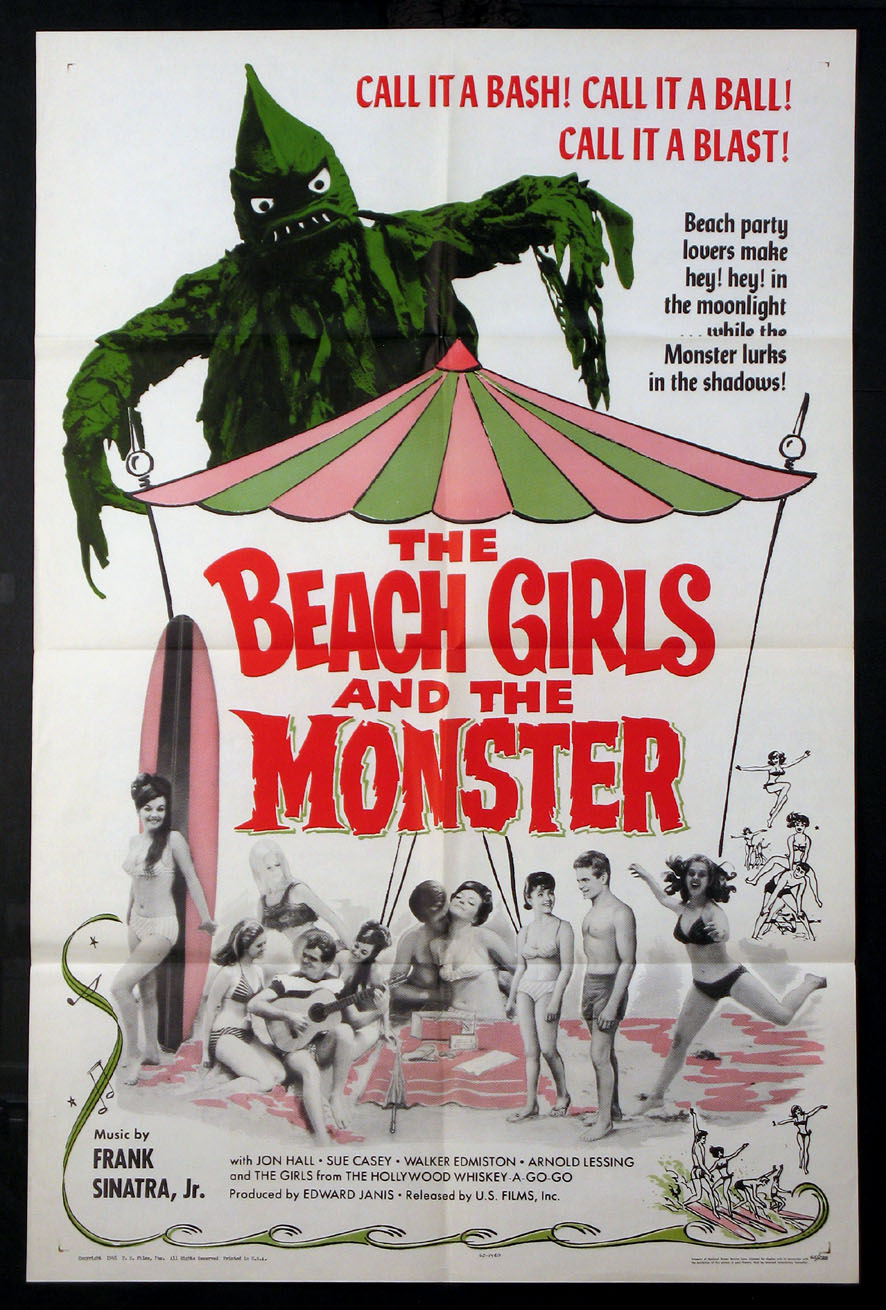 BEACH GIRLS AND THE MONSTER @ FilmPosters.com