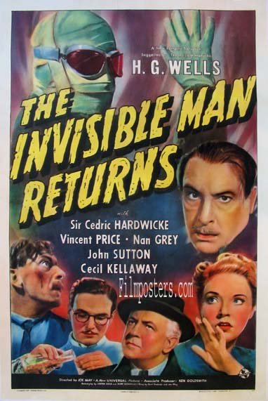 INVISIBLE MAN RETURNS @ FilmPosters.com