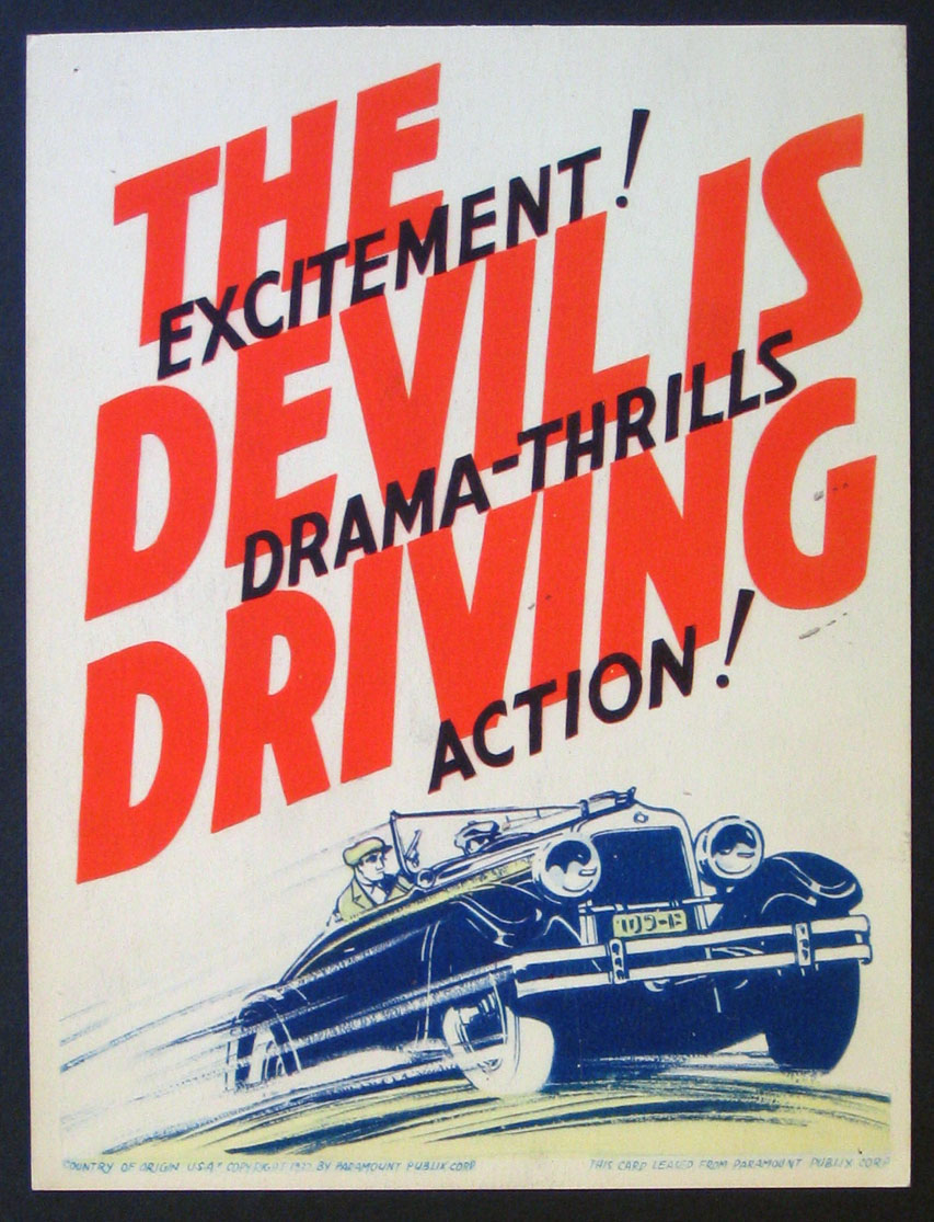 DEVIL IS DRIVING, THE @ FilmPosters.com