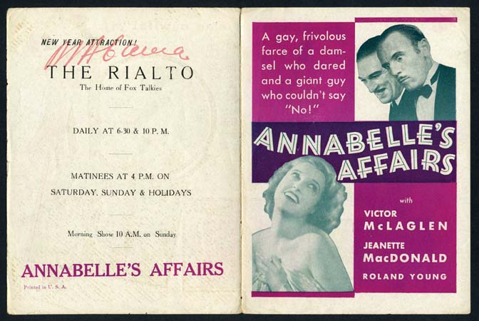 ANNABELLE'S AFFAIRS @ FilmPosters.com
