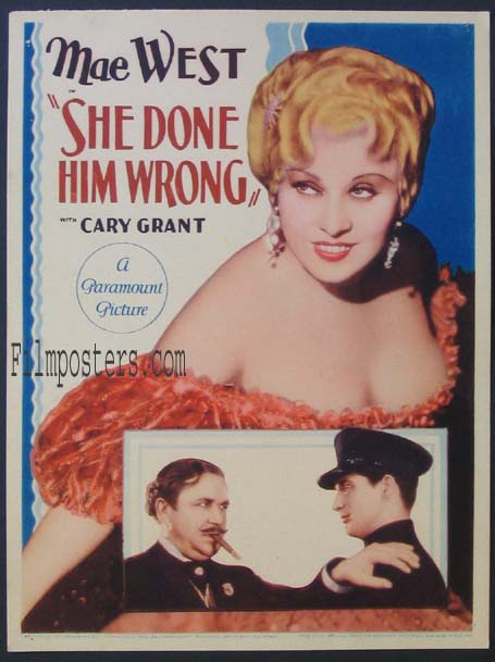 SHE DONE HIM WRONG @ FilmPosters.com