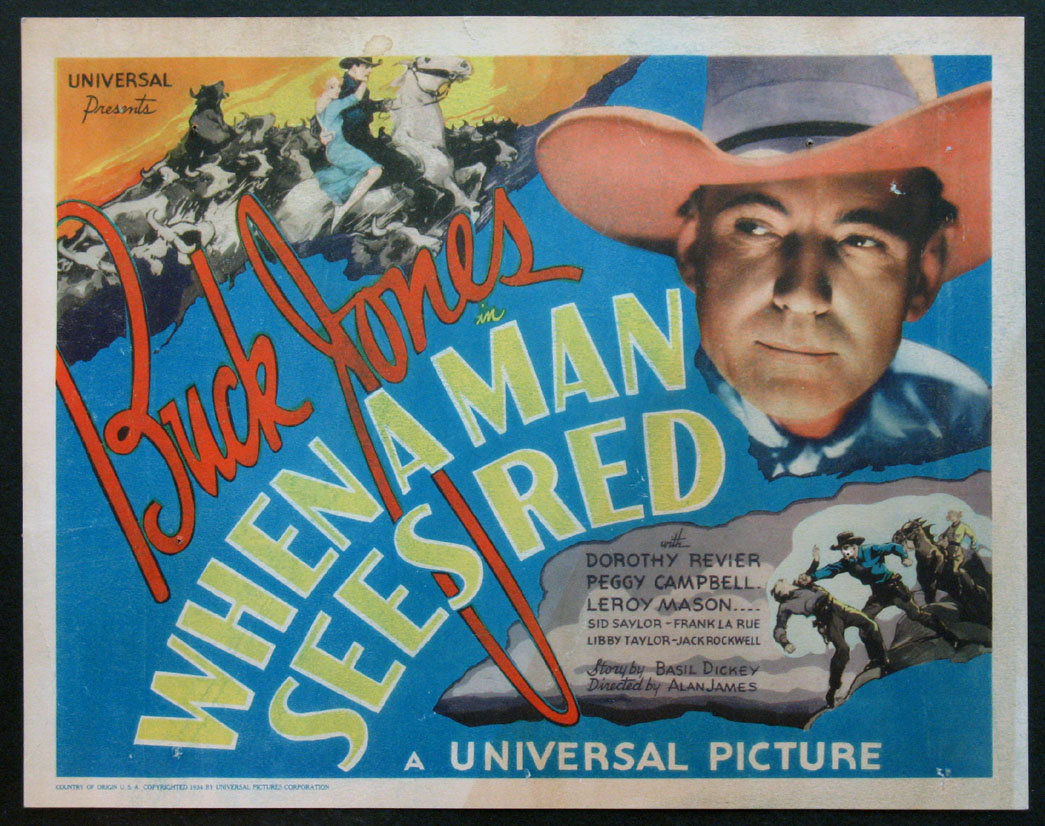 WHEN A MAN SEES RED @ FilmPosters.com