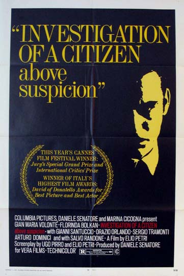 INVESTIGATION OF A CITIZEN ABOVE SUSPICION @ FilmPosters.com
