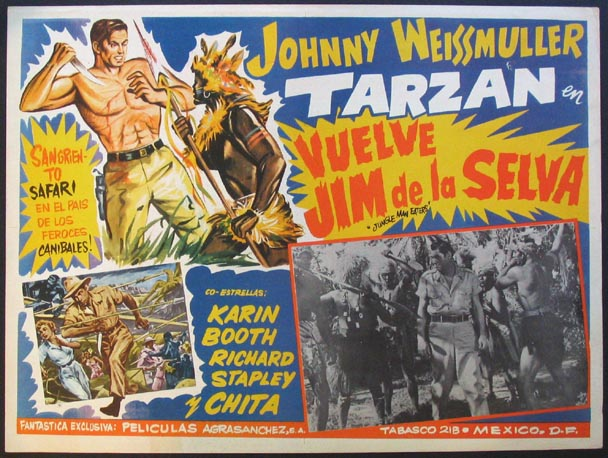 JUNGLE MAN-EATERS Movie Poster (1954)