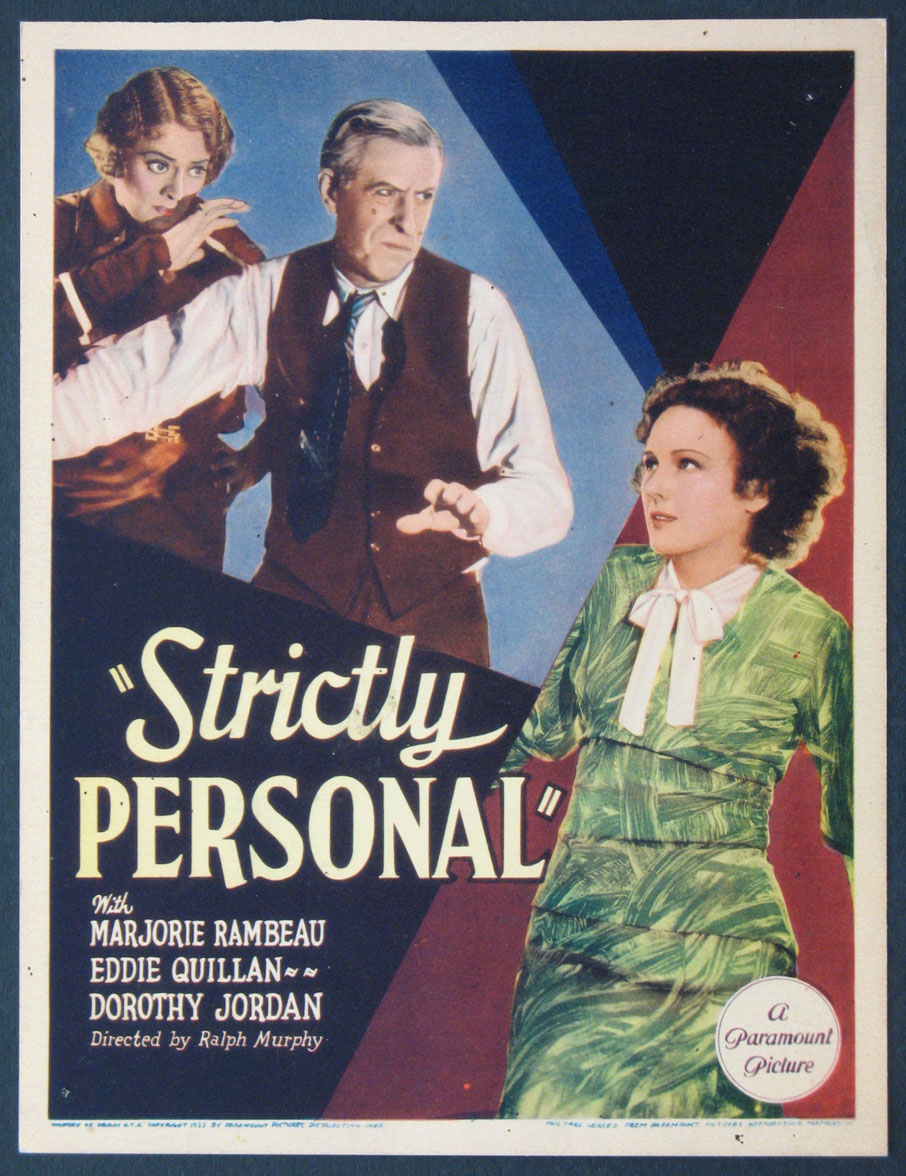 STRICTLY PERSONAL @ FilmPosters.com