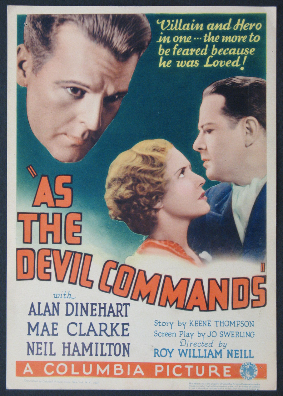 AS THE DEVIL COMMANDS @ FilmPosters.com