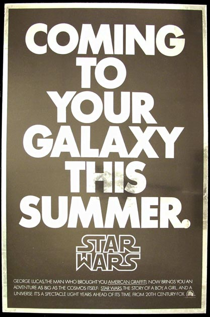 STAR WARS - MYLAR FIRST ADVANCE @ FilmPosters.com