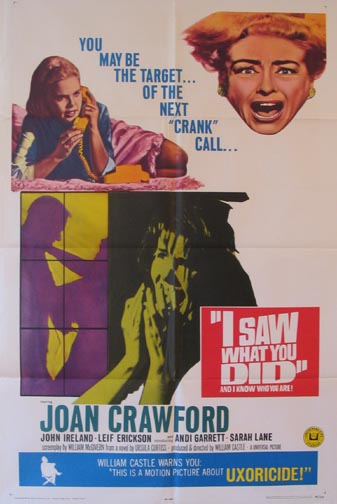 I SAW WHAT YOU DID @ FilmPosters.com