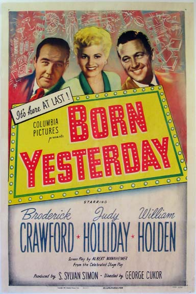 BORN YESTERDAY @ FilmPosters.com