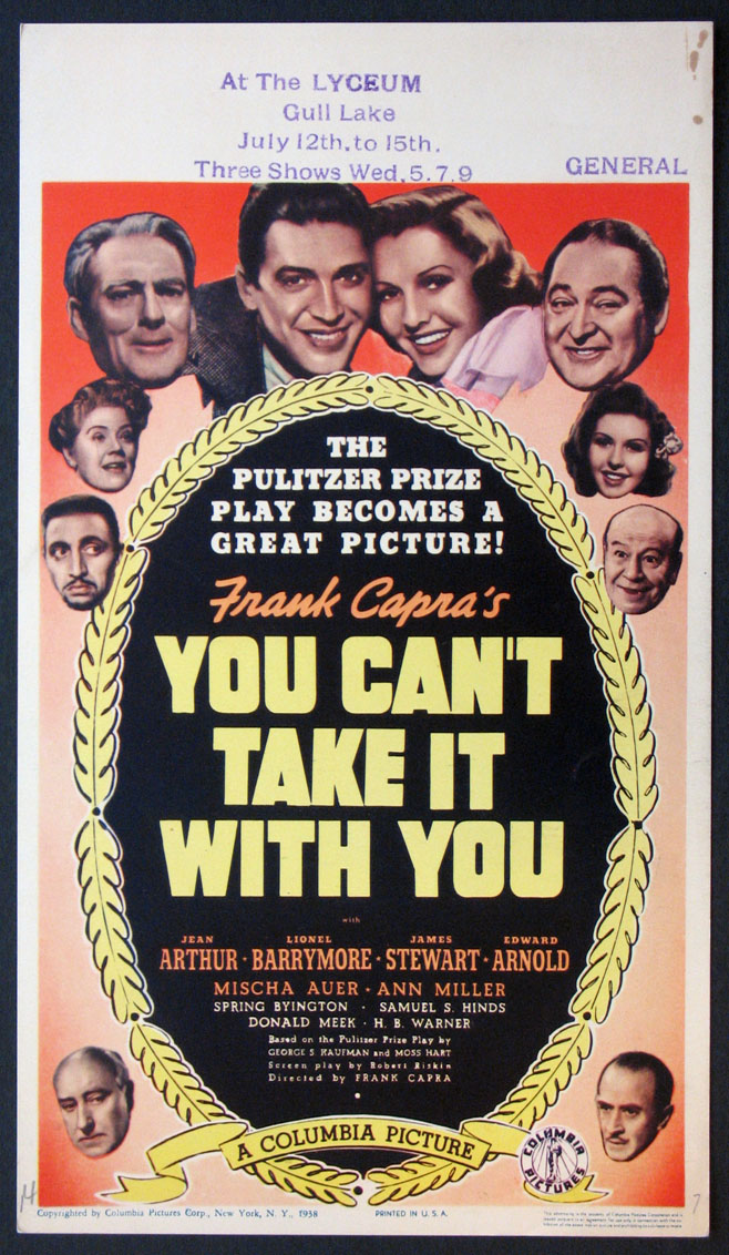 YOU CAN'T TAKE IT WITH YOU @ FilmPosters.com