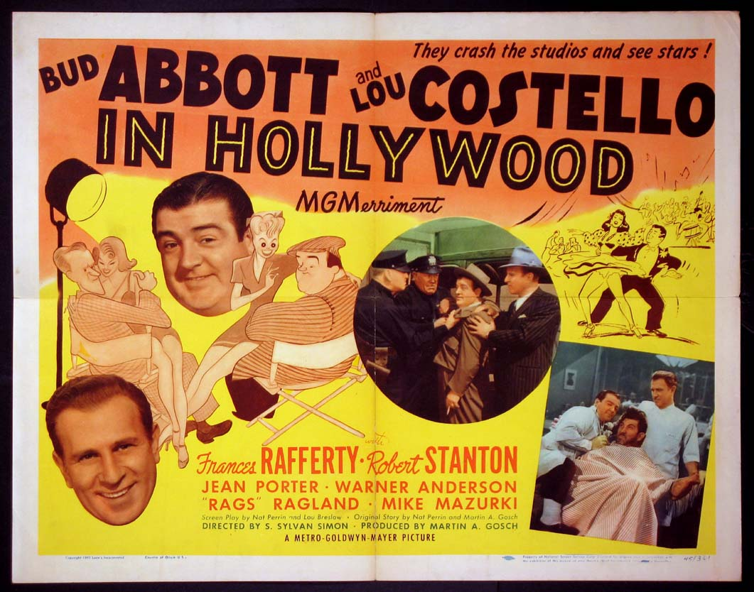 ABBOTT AND COSTELLO IN HOLLYWOOD (aka Bud Abbott and Lou Costello in Hollywood) @ FilmPosters.com
