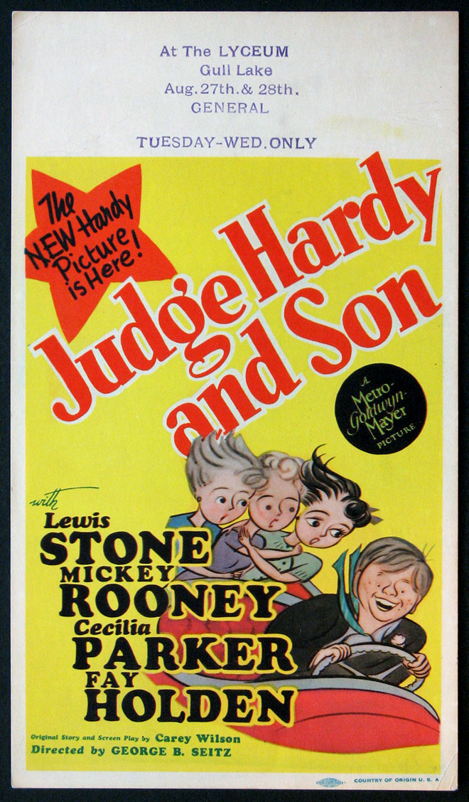 JUDGE HARDY AND SON @ FilmPosters.com