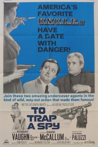 TO TRAP A SPY (Man from U.N.C.L.E.) @ FilmPosters.com