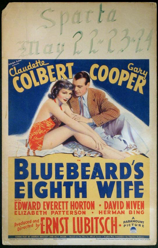 BLUEBEARD'S EIGHTH WIFE @ FilmPosters.com