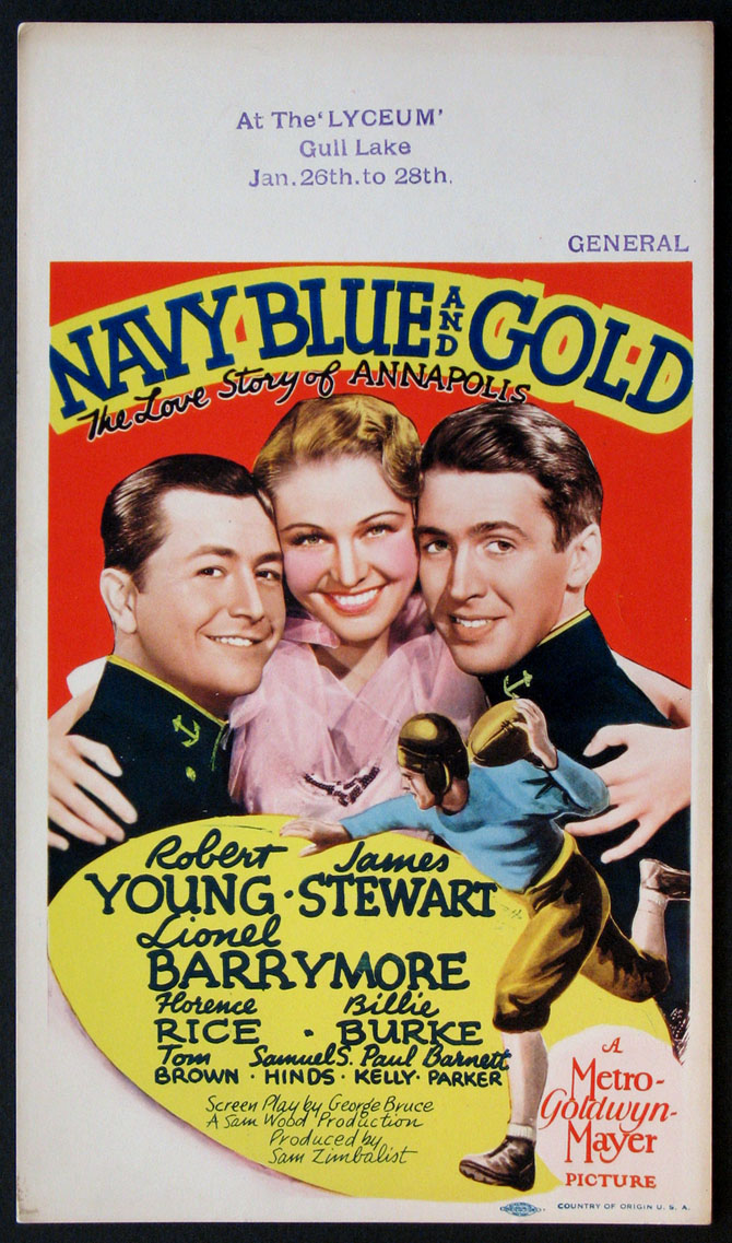 NAVY BLUE AND GOLD @ FilmPosters.com