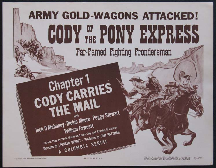 CODY OF THE PONY EXPRESS @ FilmPosters.com