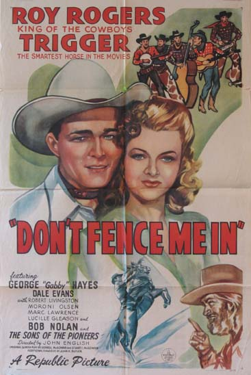 DON'T FENCE ME IN @ FilmPosters.com