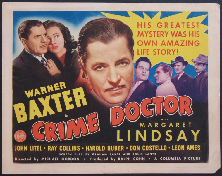 CRIME DOCTOR @ FilmPosters.com