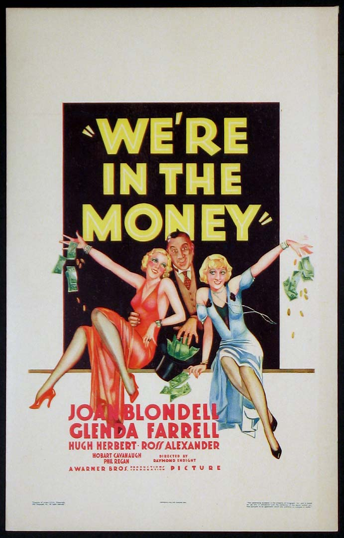 WE'RE IN THE MONEY @ FilmPosters.com