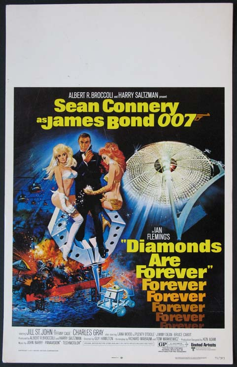 DIAMONDS ARE FOREVER @ FilmPosters.com