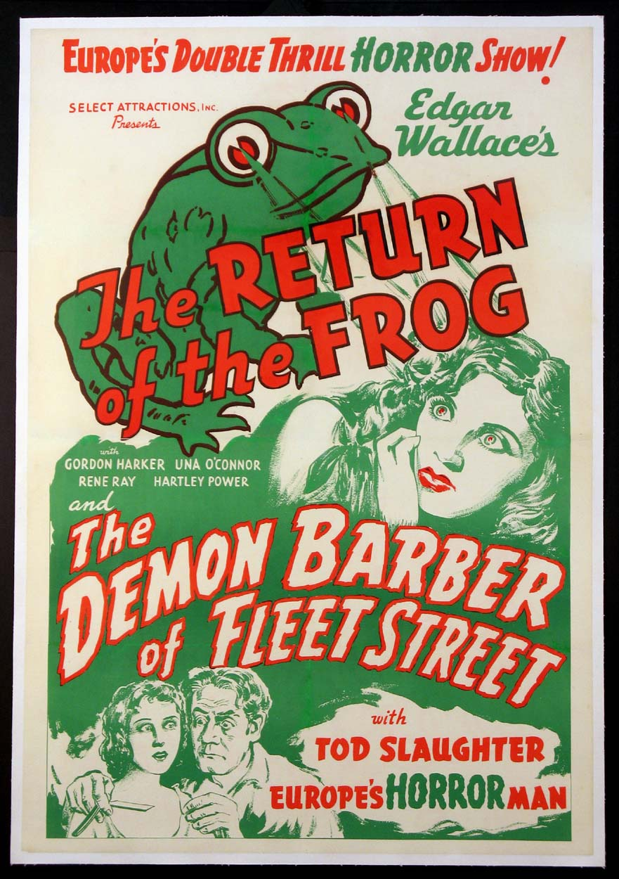RETURN OF THE FROG / DEMON BARBER OF FLEET STREET @ FilmPosters.com