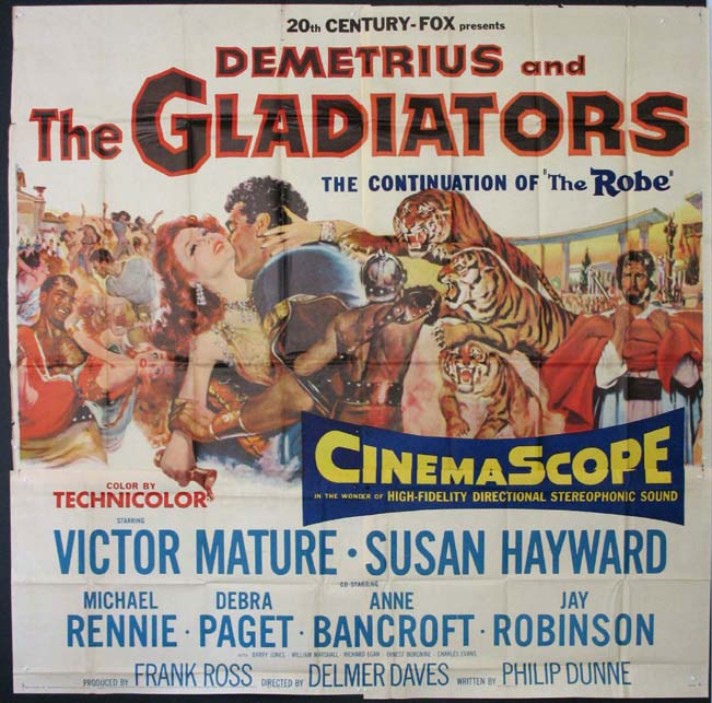 DEMETRIUS AND THE GLADIATORS @ FilmPosters.com