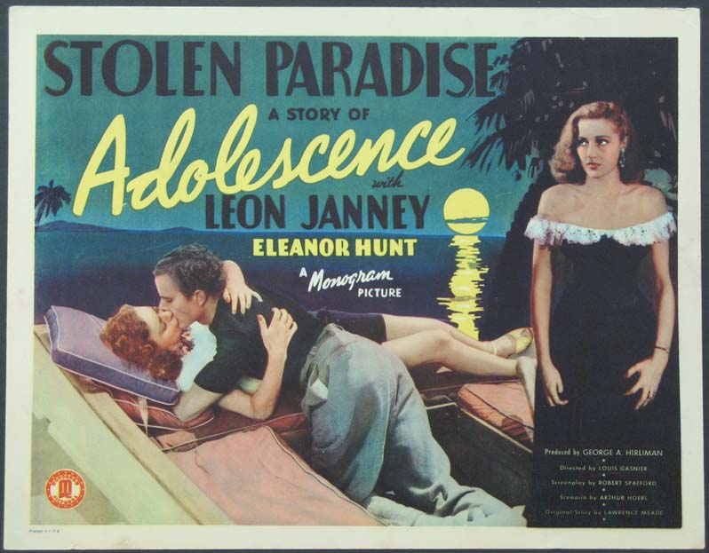 STOLEN PARADISE A Story of Adolescence @ FilmPosters.com