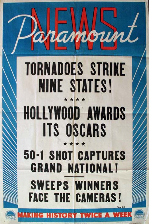 PARAMOUNT NEWS: NEWSREEL @ FilmPosters.com