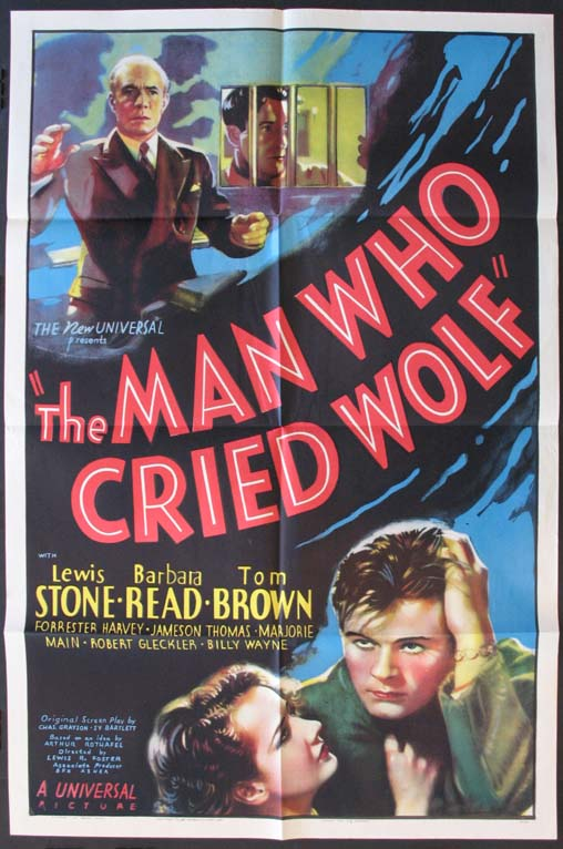 MAN WHO CRIED WOLF @ FilmPosters.com