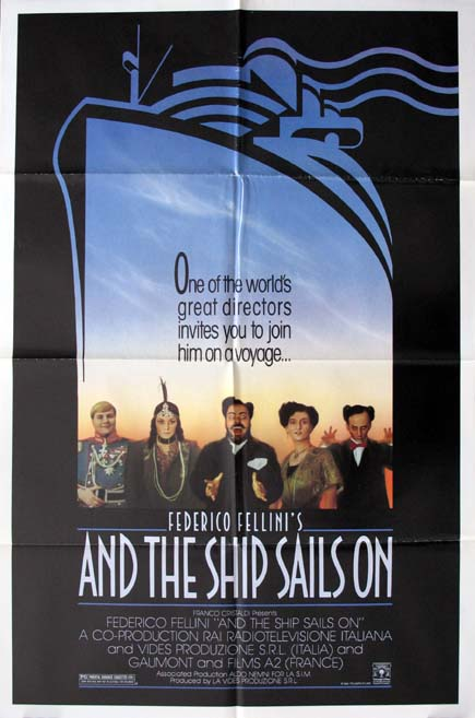AND THE SHIP SAILS ON @ FilmPosters.com
