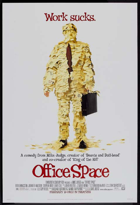 office space memorabilia. OFFICE SPACE Movie Poster (1999) - Posters, Lobby Cards, Vintage Memorabilia 1920s To Present @ Film Posters Office Space I