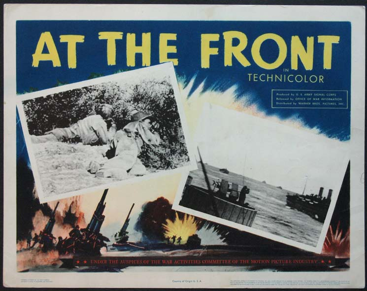 AT THE FRONT @ FilmPosters.com