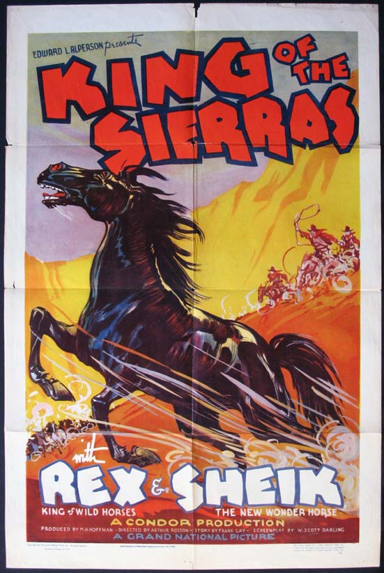 KING OF THE SIERRAS @ FilmPosters.com