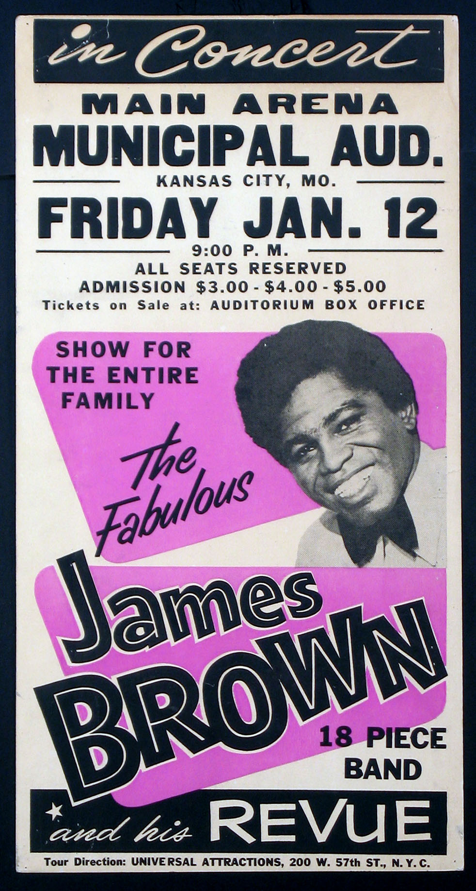 FABULOUS JAMES BROWN AND HIS REVUE CONCERT POSTER @ FilmPosters.com