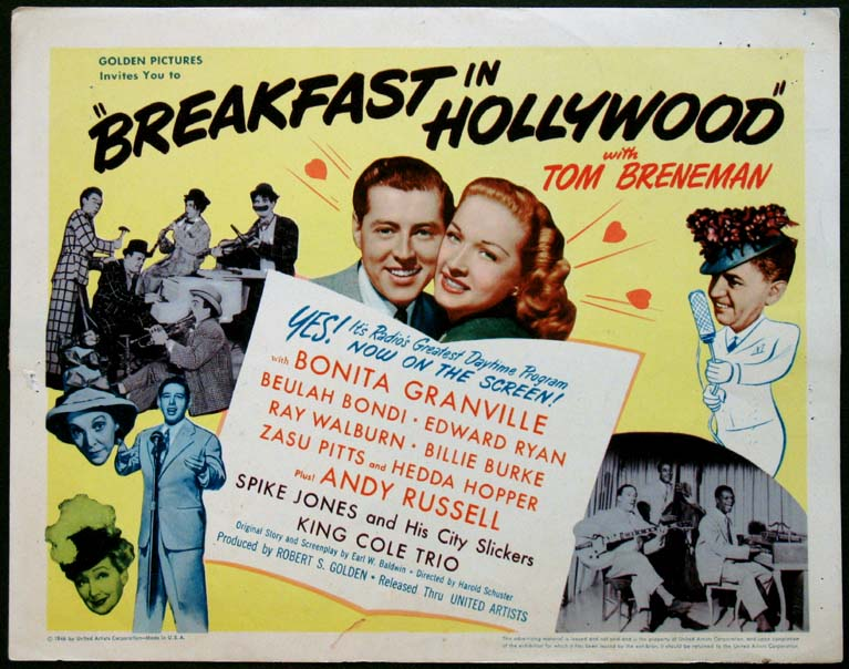 BREAKFAST IN HOLLYWOOD @ FilmPosters.com