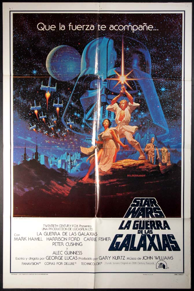 STAR WARS - Hildebrandt Bilingual One-sheet @ FilmPosters.com