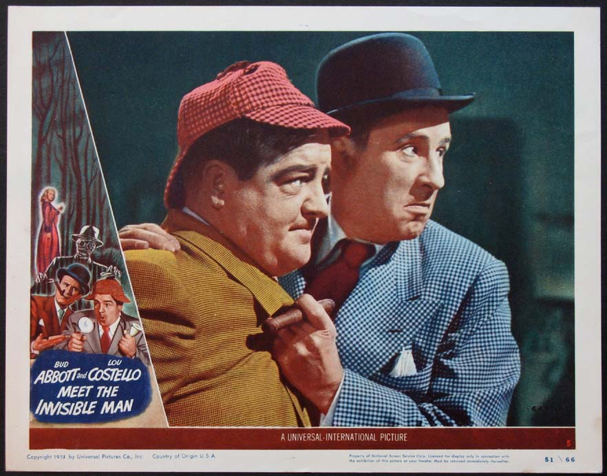 ABBOTT AND COSTELLO MEET THE INVISIBLE MAN @ FilmPosters.com