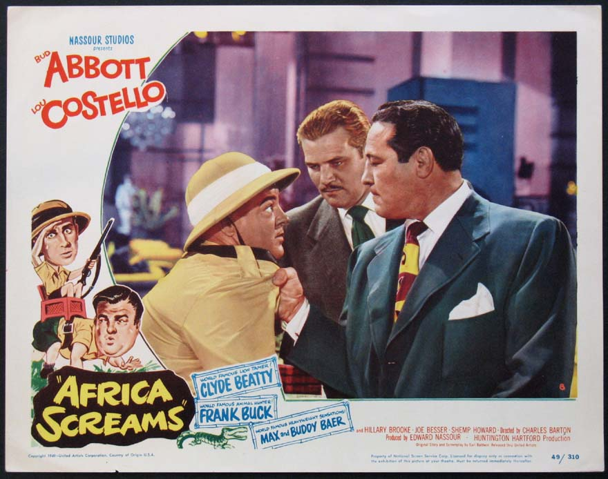 AFRICA SCREAMS (Abbott and Costello) @ FilmPosters.com