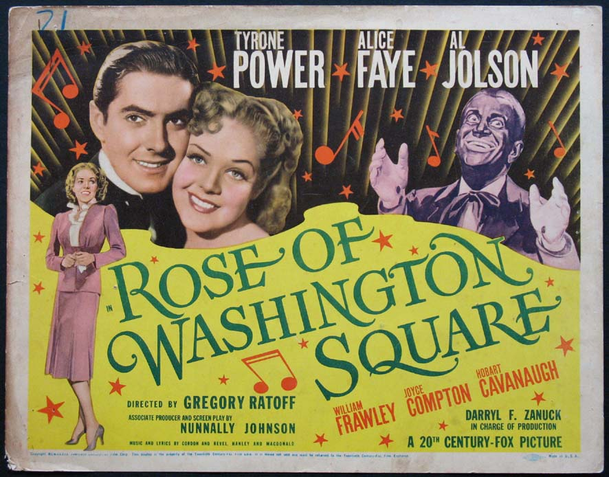 ROSE OF WASHINGTON SQUARE @ FilmPosters.com