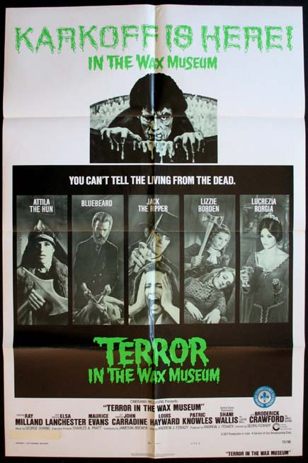TERROR IN THE WAX MUSEUM @ FilmPosters.com