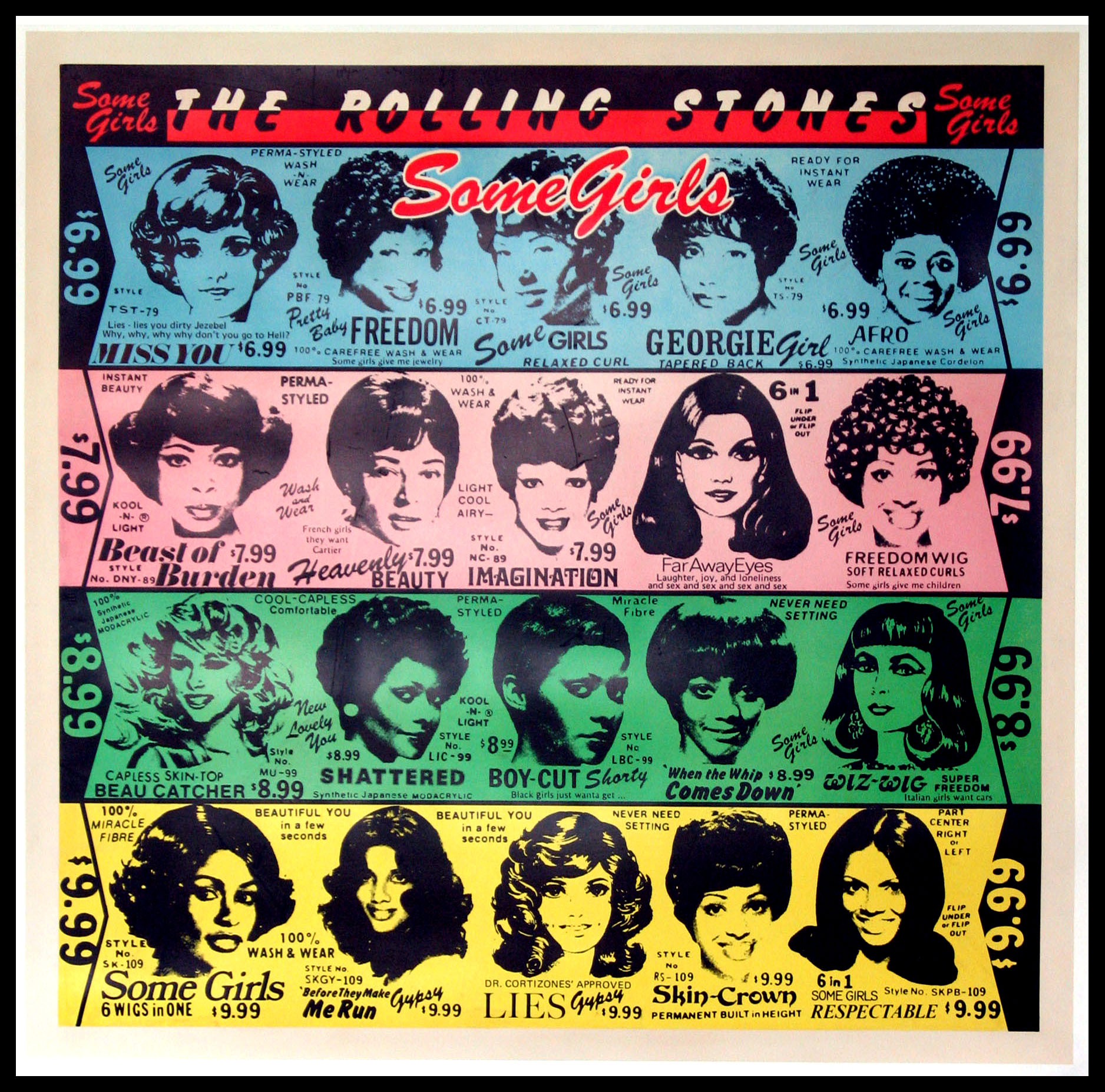 ROLLING STONES SOME GIRLS PROMOTIONAL POSTER @ FilmPosters.com