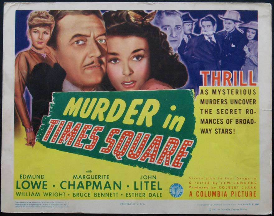 MURDER IN TIMES SQUARE @ FilmPosters.com