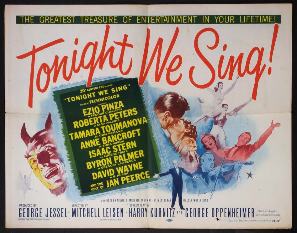 TONIGHT WE SING! @ FilmPosters.com