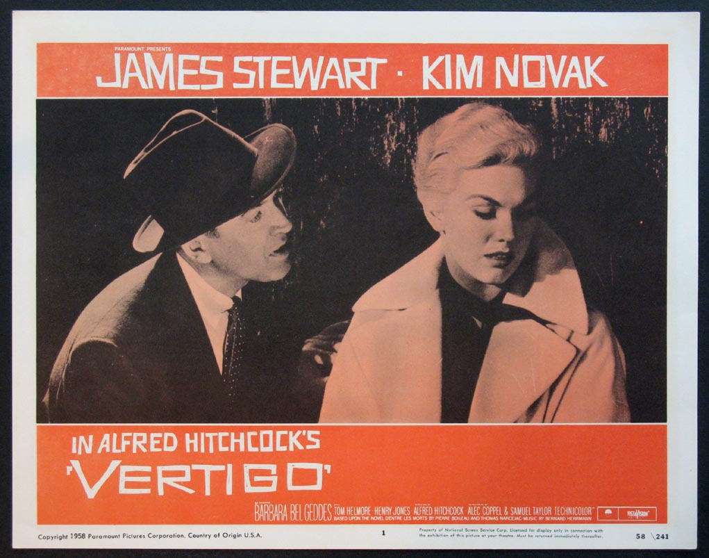 a review of alfred hitchcocks movie vertigo Vertigo (1958) is the first of alfred hitchcock's four straight masterpieces of the late-50s and early-60s (north by northwest, psycho and the birds being the others.