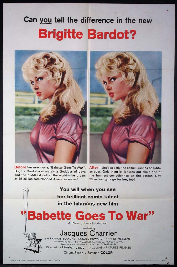 BABETTE GOES TO WAR @ FilmPosters.com