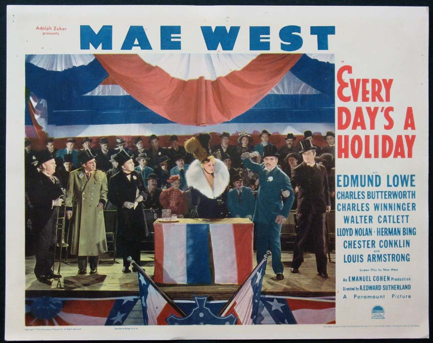 EVERY DAY'S A HOLIDAY @ FilmPosters.com