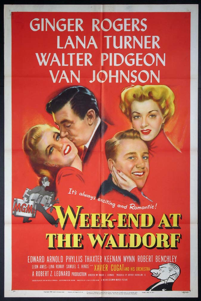 WEEK-END AT THE WALDORF (WeekEnd at the Waldorf) @ FilmPosters.com