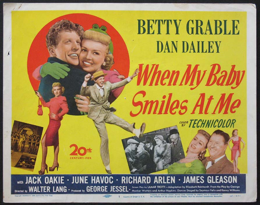 WHEN MY BABY SMILES AT ME @ FilmPosters.com