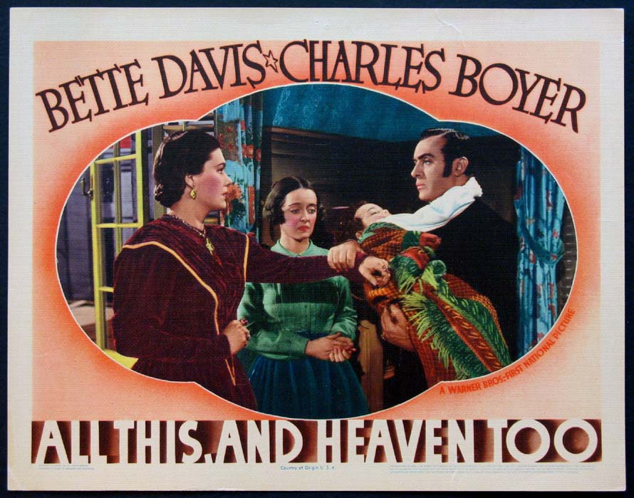 ALL THIS, AND HEAVEN TOO (All This And Heaven Too) @ FilmPosters.com